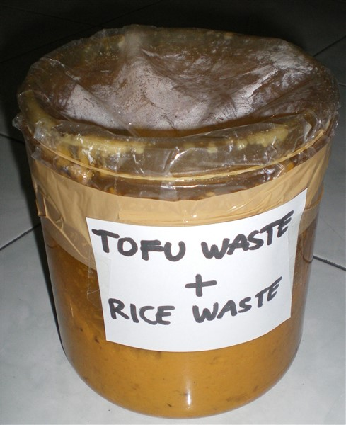 image of bioethanol science fair project tofu waste plus rice waste without water