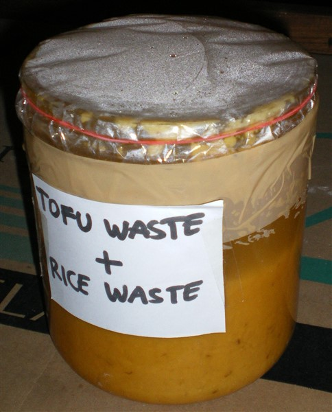 image of bioethanol science fair project tofu waste plus rice waste plus water