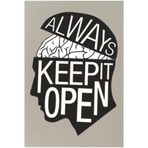 image of Aways Keep an Open Mind Classroom Poster