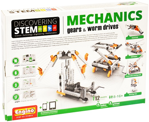 image of Engino Discovering STEM Mechanics: Gears & Worm Drives