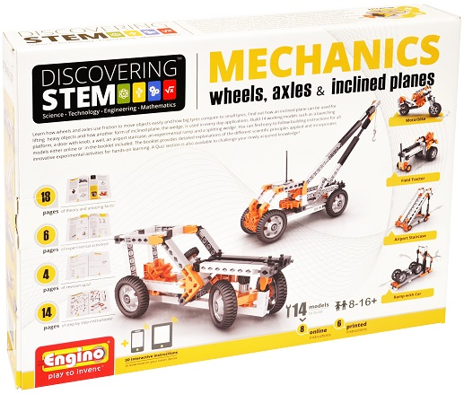 image of Engino Discovering STEM Mechanics: Wheels, Axels & Inclined Planes