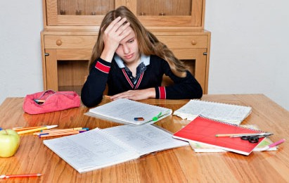 image of frustrated student