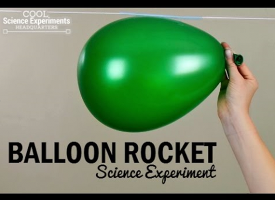 Balloon Rocket Science Fair Experiments