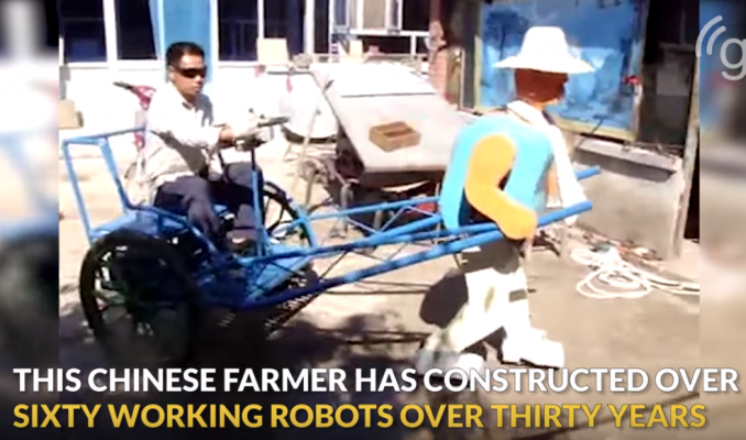 Chinese Farmer who has Constructed over 60 Robots