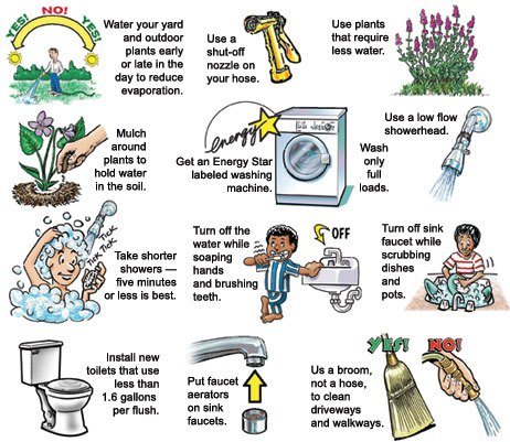 Domestic Water Saving Tips