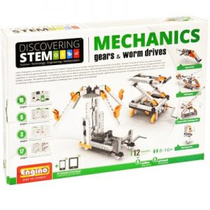 Engino Discovering STEM Mechanics Gears & Worm Drives Building Kit for Kids