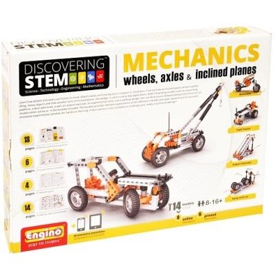 Engino Discovering STEM Mechanics Wheels Axles & Inclined Planes Building Kits