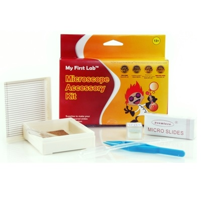 Microscope Accessory Kit w/ Prepared & Blank Slides