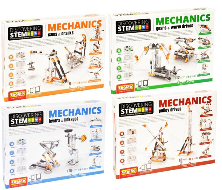 4 Most Popular Engino Mechanical Science Series Kits With Lesson Plans – All 4 Kits Discounted