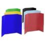 assorted colors science fair display boards