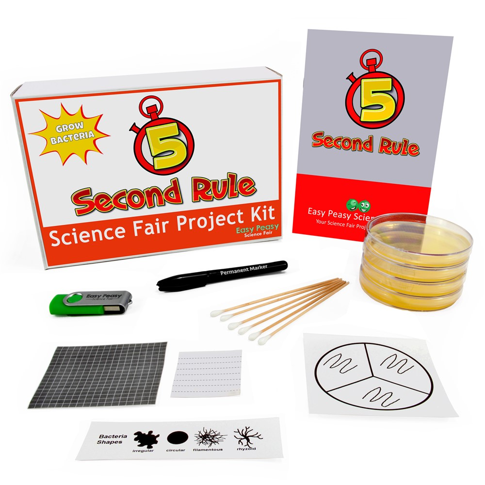 5 Second Rule Science Fair Project Microbiology Kit