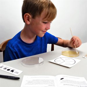 Students Using the 5 Second Rule Science Fair Project Kit