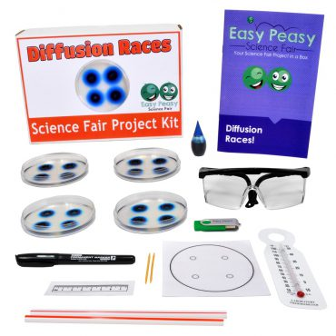 Diffusion Races Easy Chemistry Science Fair Projects Kit