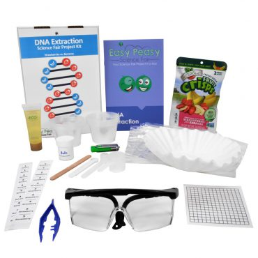 DNA Extraction Microbiology Science Fair Kit w/ Strawberries & Bananas