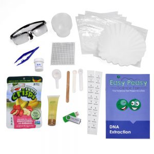 DNA Extraction Microbiology Science Fair Kit Parts