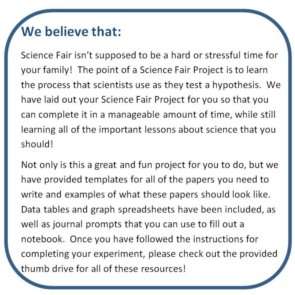 Our Science Fair Philosophy