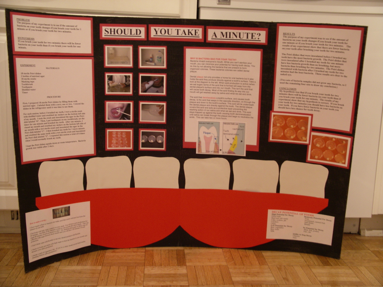 Brushing Teeth Mouth Bacteria Science Fair Project Abstract