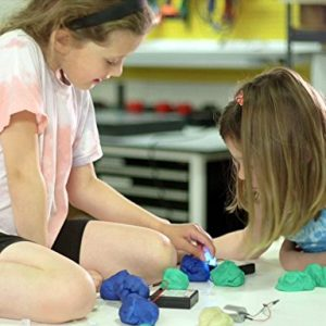 Students Using Squishy Circuits Standard Kit