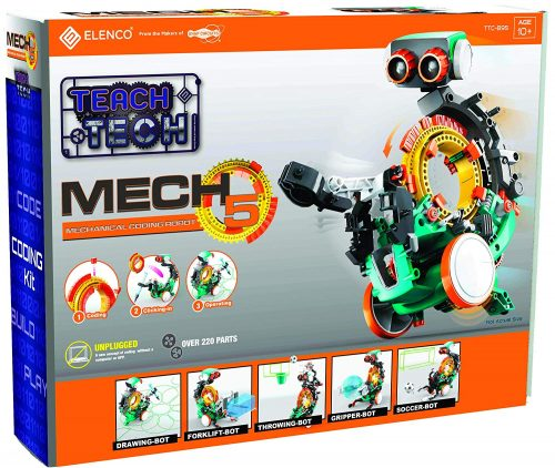 Mech 5 Programmable Coding Robot Front of Box
