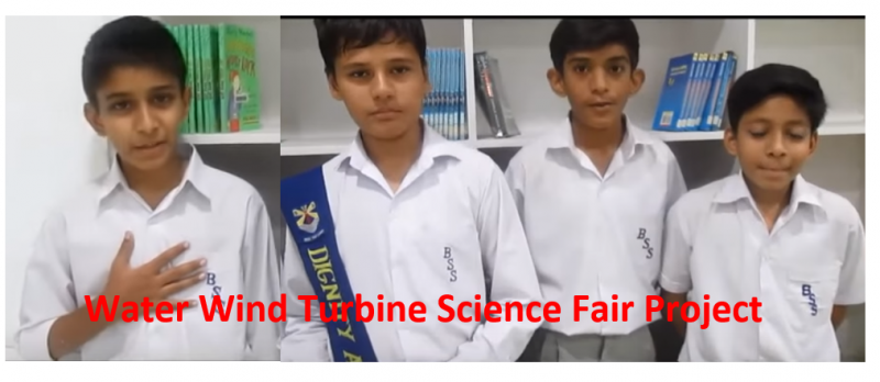 Water Wind Turbine Science Fair Project Abstract