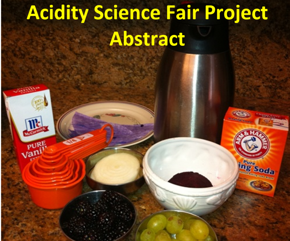acidity science fair project abstract
